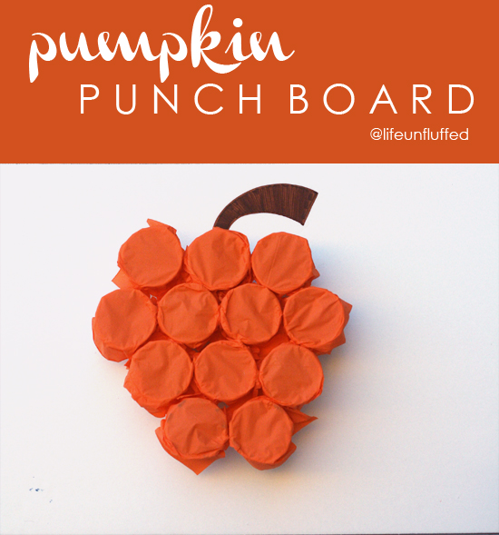 pumpkin punch board at life unfluffed