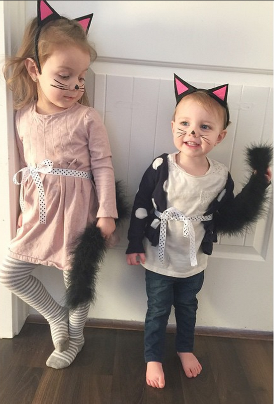 kitty ears and tail party