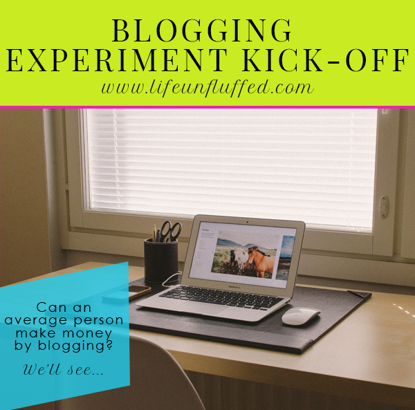 blogging experiment