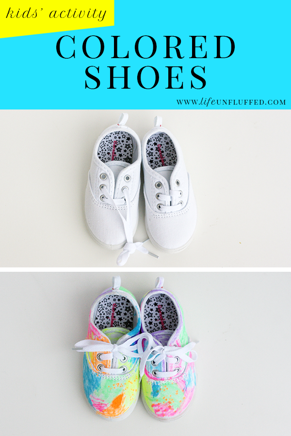 colored kids shoes