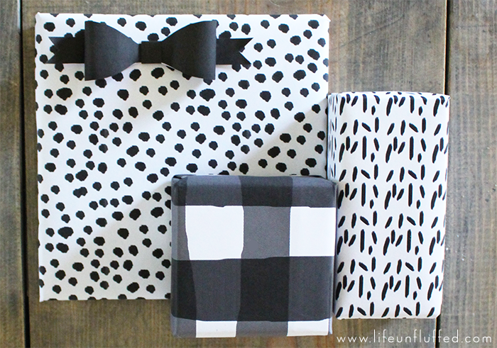 modern printable wrapping paper