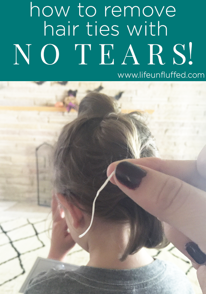 how to remove hair ties with no tears 2