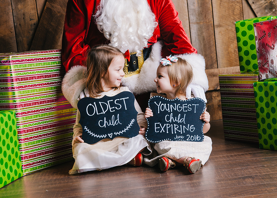 The cutest Christmas pregnancy announcement!