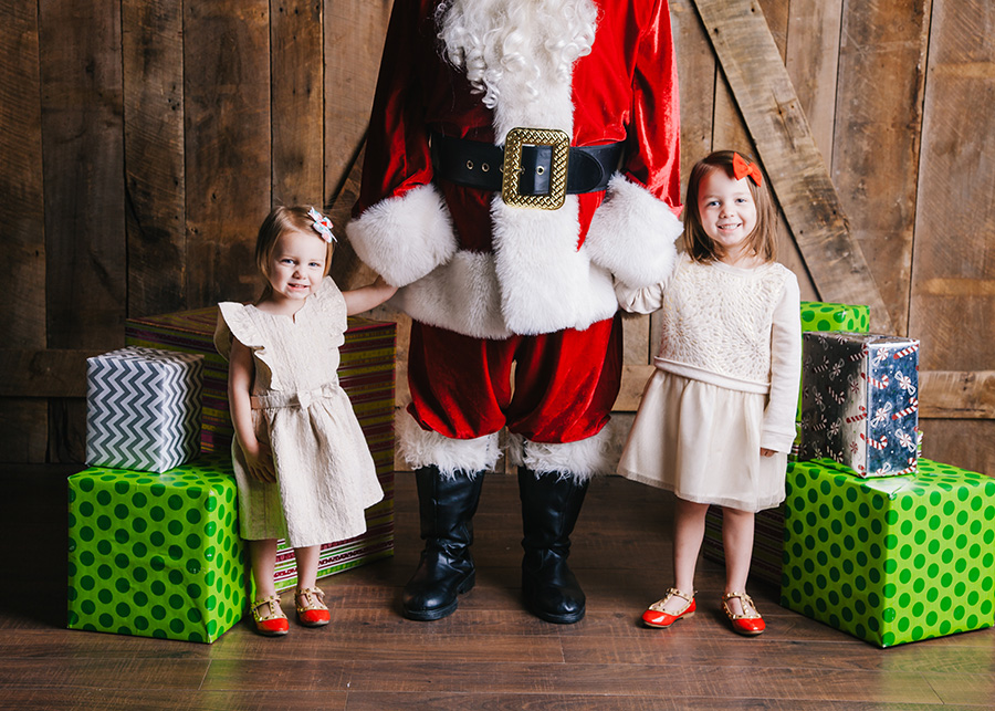 Little girls with Santa