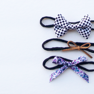 nylon headbands and bows